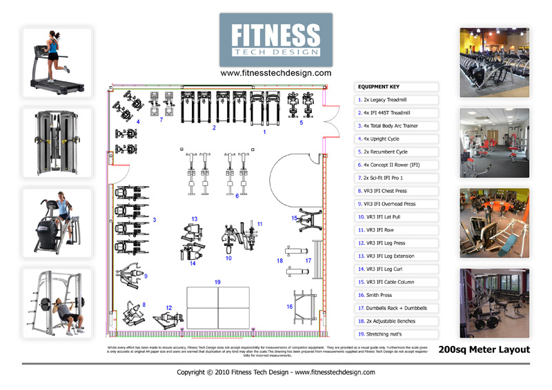 2d gym design 2d fitness layout portfolio fitness tech