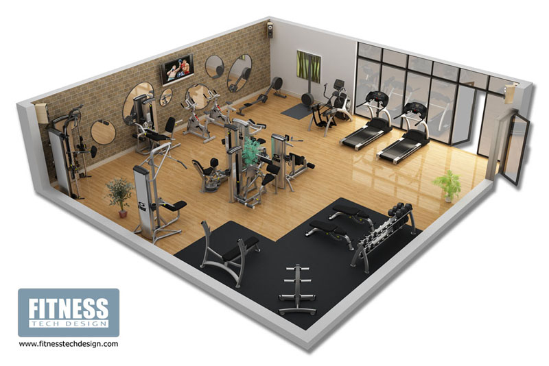 3d gym design 3d fitness layout portfolio fitness tech design